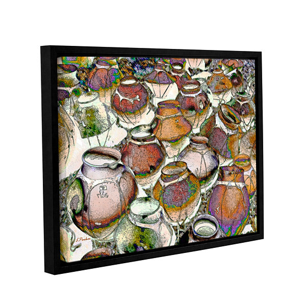 Brushstone Southwestern Pots Gallery Wrapped Floater-Framed Canvas Wall Art
