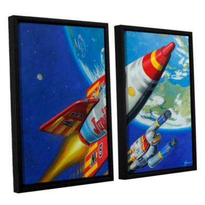 Brushstone Spacepatrol2 2-pc. Floater Framed Canvas Wall Art