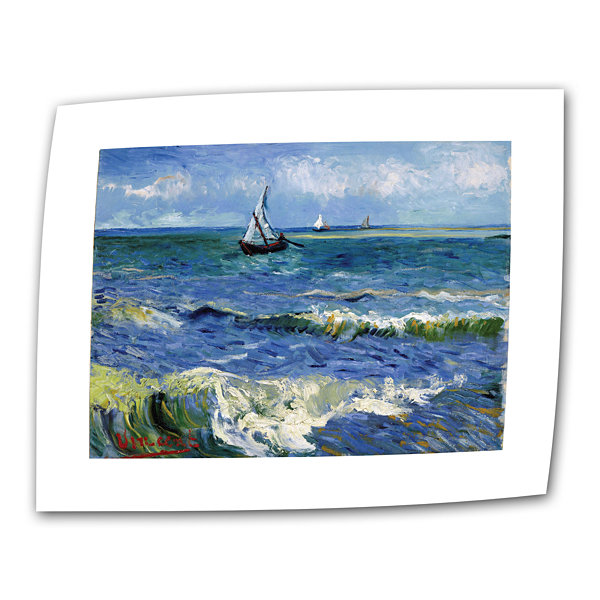 Brushstone Seascape At Saintes Maries Canvas WallArt