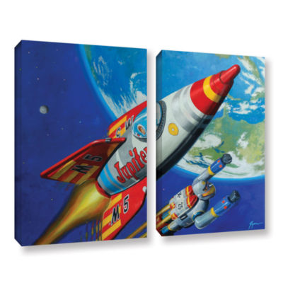 Brushstone Spacepatrol2 2-pc. Gallery Wrapped Canvas Wall Art
