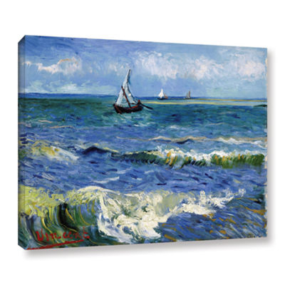 Brushstone Seascape At Saintes Maries Gallery Wrapped Canvas Wall Art