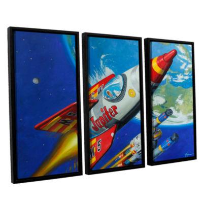 Brushstone Spacepatrol2 3-pc. Floater Framed Canvas Wall Art