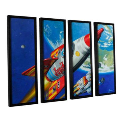 Brushstone Spacepatrol2 4-pc. Floater Framed Canvas Wall Art
