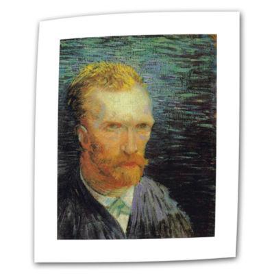 Brushstone Self Portrait (Summer 1887) Canvas WallArt