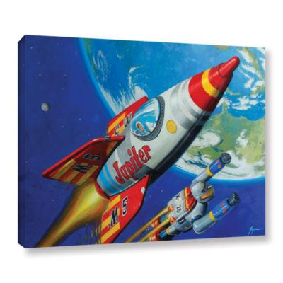 Brushstone Spacepatrol2 Gallery Wrapped Canvas Wall Art