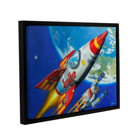 Brushstone Spacepatrol2 Gallery Wrapped Floater-Framed Canvas Wall Art