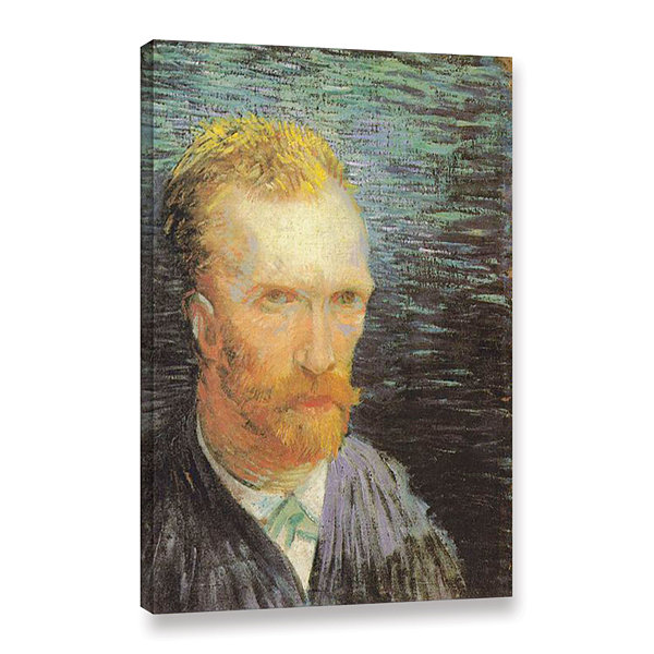Brushstone Self Portrait (Summer 1887) Gallery Wrapped Canvas Wall Art