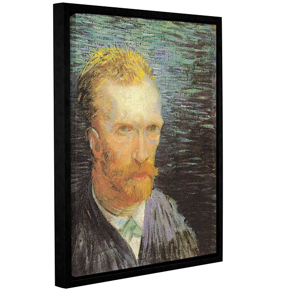 Brushstone Self Portrait (Summer 1887) Gallery Wrapped Floater-Framed Canvas Wall Art
