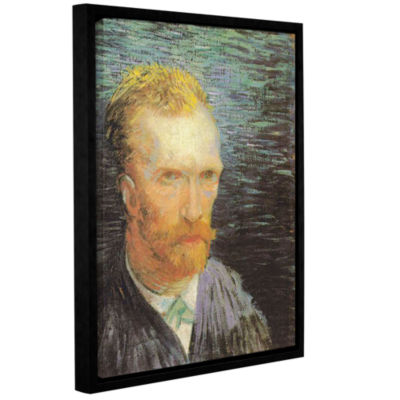 Brushstone Self Portrait (Summer 1887) Gallery Wrapped Floater-Framed Canvas Wall Art