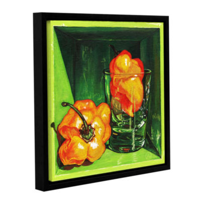 Brushstone Scotch Bonnet Gallery Wrapped Floater-Framed Canvas Wall Art