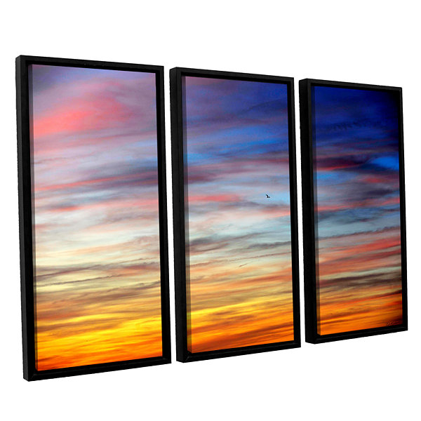 Brushstone Spacious Skies 3-pc. Floater Framed Canvas Wall Art