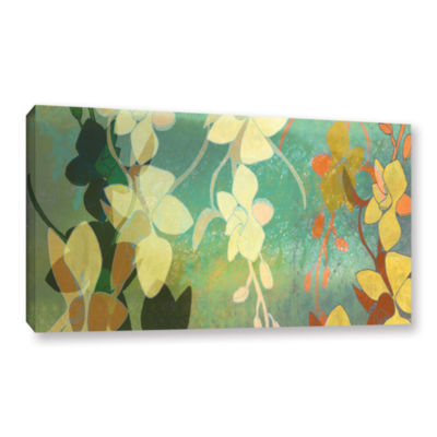 Brushstone Shadow Florals Gallery Wrapped Canvas Wall Art