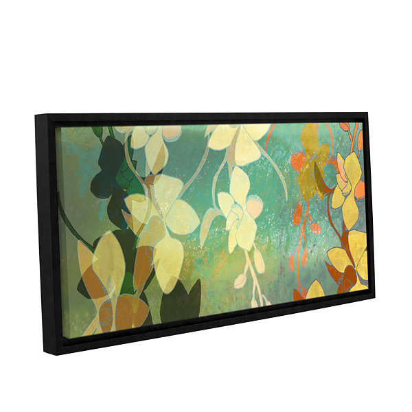 Brushstone Shadow Florals Gallery Wrapped Floater-Framed Canvas Wall Art
