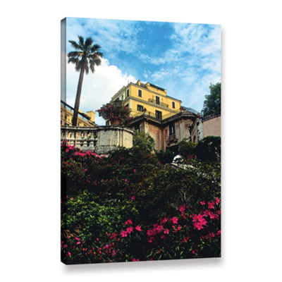 Brushstone Spanish Steps In Rome Gallery Wrapped Canvas Wall Art