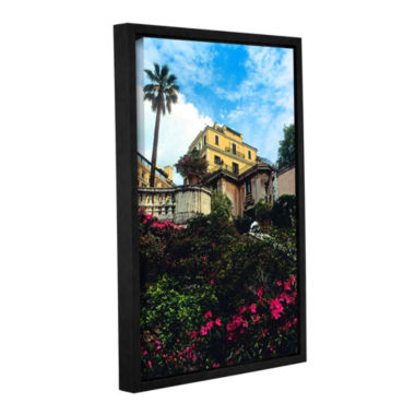 Brushstone Spanish Steps In Rome Gallery Wrapped Floater-Framed Canvas Wall Art
