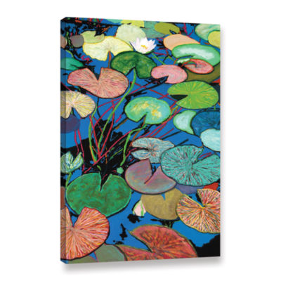 Brushstone Sparkling Pond Gallery Wrapped Canvas Wall Art