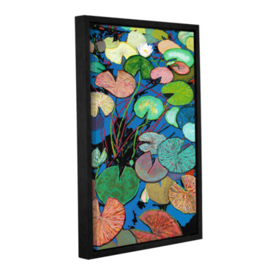 Brushstone Sparkling Pond Gallery Wrapped Floater-Framed Canvas Wall Art