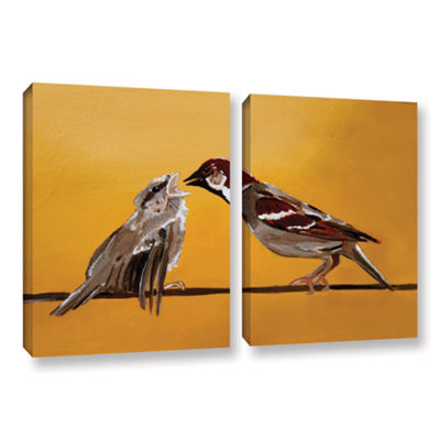 Brushstone Sparrows 2-pc. Gallery Wrapped Canvas Wall Art