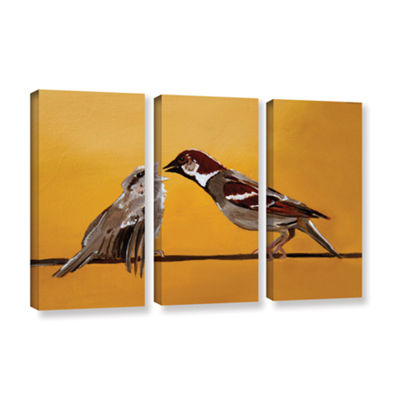 Brushstone Sparrows 3-pc. Gallery Wrapped Canvas Wall Art