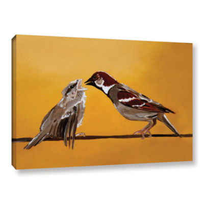 Brushstone Sparrows Gallery Wrapped Canvas Wall Art
