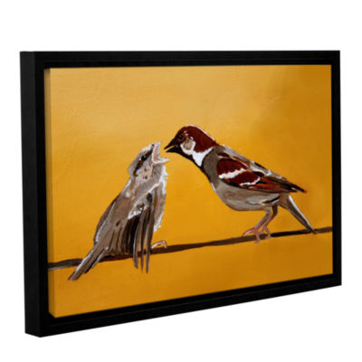 Brushstone Sparrows Gallery Wrapped Floater-FramedCanvas Wall Art