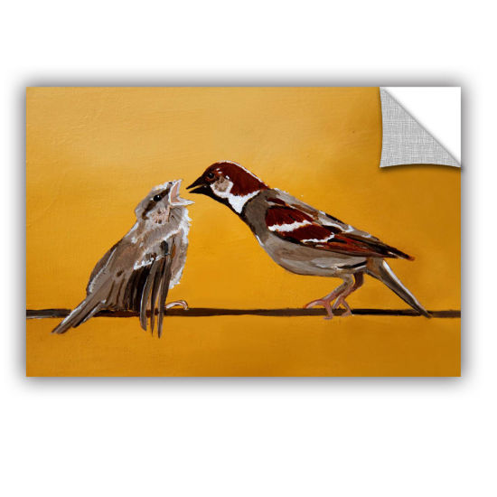 Brushstone Sparrows Removable Wall Decal