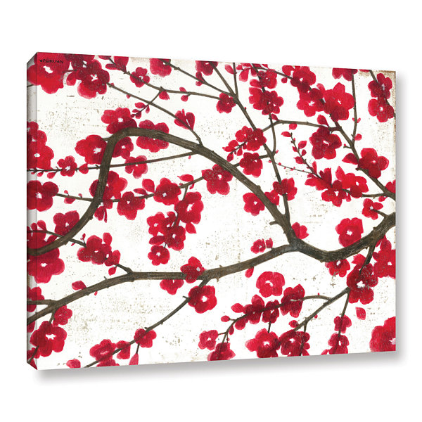 Brushstone Ruby Blossoms Gallery Wrapped Canvas Wall Art