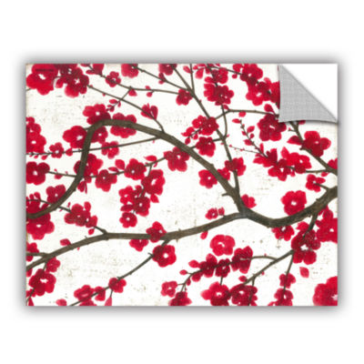 Brushstone Ruby Blossoms Removable Wall Decal