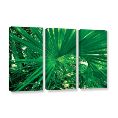 Brushstone Spiral Out Green 3-pc. Gallery WrappedCanvas Wall Art
