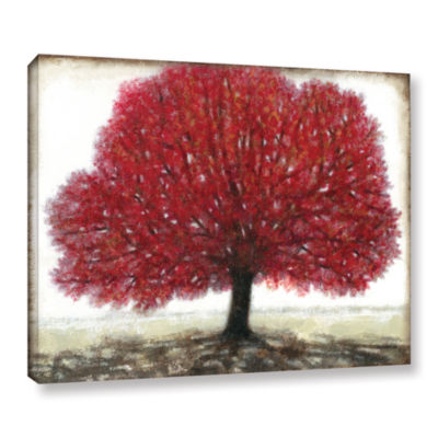 Brushstone Ruby Tree Gallery Wrapped Canvas Wall Art