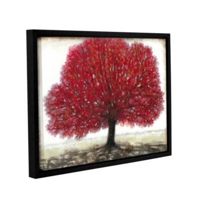 Brushstone Ruby Tree Gallery Wrapped Floater-Framed Canvas Wall Art