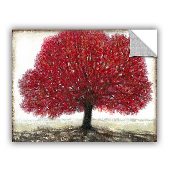 Brushstone Ruby Tree Removable Wall Decal