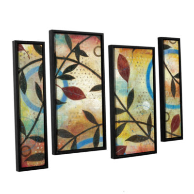 Brushstone Seasons Change 4-pc. Floater Framed Staggered Canvas Wall Art