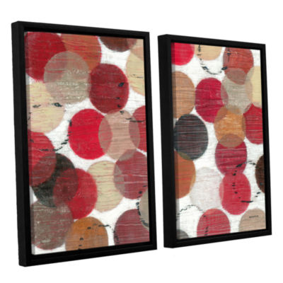 Brushstone Roulette 2-pc. Floater Framed Canvas Wall Art