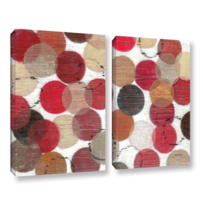 Brushstone Roulette 2-pc. Gallery Wrapped Canvas Wall Art