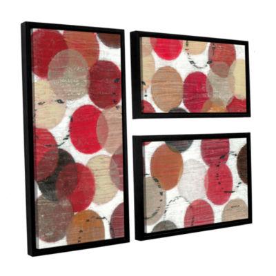 Brushstone Roulette 3-pc. Flag Floater Framed Canvas Wall Art
