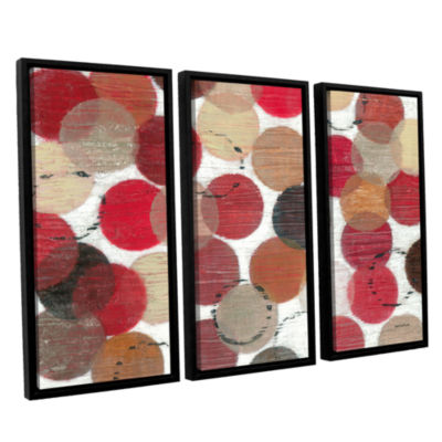 Brushstone Roulette 3-pc. Floater Framed Canvas Wall Art