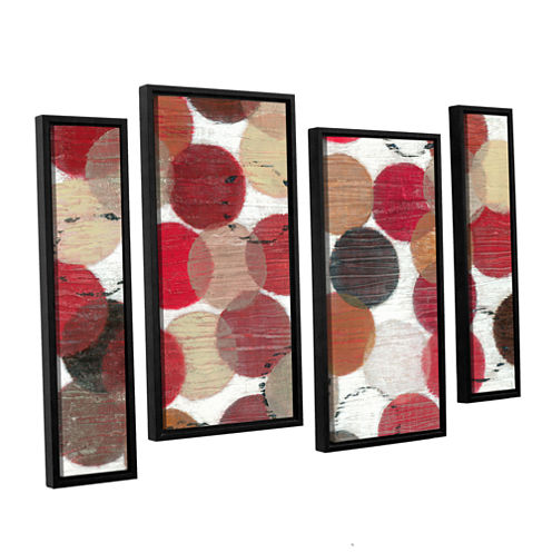 Brushstone Roulette 4-pc. Floater Framed StaggeredCanvas Wall Art