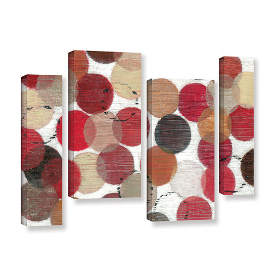 Brushstone Roulette 4 Pc Gallery Wrapped Staggered Canvas Wall Art