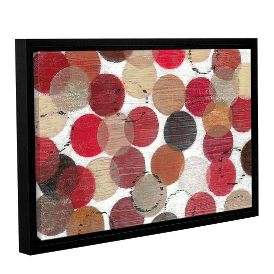 Brushstone Roulette Gallery Wrapped Floater-FramedCanvas Wall Art