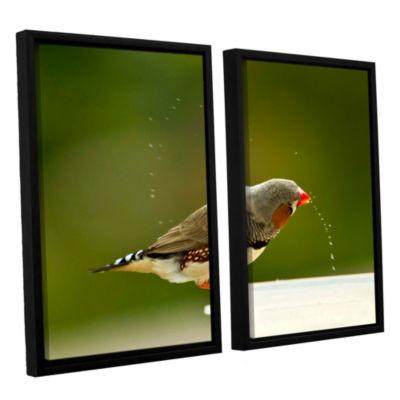Brushstone Splash3 2-pc. Floater Framed Canvas Wall Art