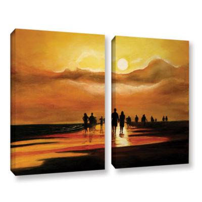 Brushstone Splash3 2-pc. Gallery Wrapped Canvas Wall Art