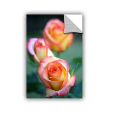 Brushstone Rose Trio Removable Wall Decal