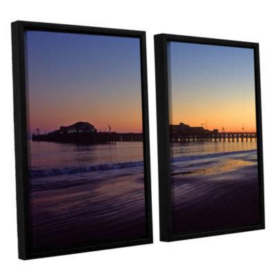 Brushstone Santa Barbara Pier At Sunset 2-pc. Floater Framed Canvas Wall Art