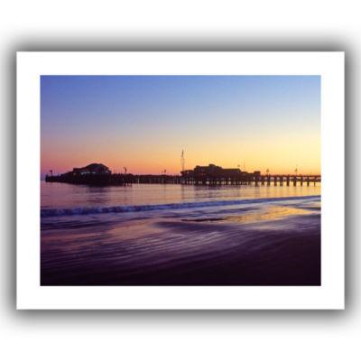 Brushstone Santa Barbara Pier At Sunset Canvas Wall Art