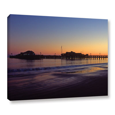 Brushstone Santa Barbara Pier At Sunset Gallery Wrapped Canvas Wall Art