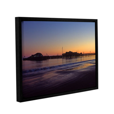 Brushstone Santa Barbara Pier At Sunset Gallery Wrapped Floater-Framed Canvas Wall Art
