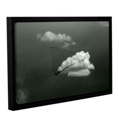 Brushstone Splinter Gallery Wrapped Floater-FramedCanvas Wall Art