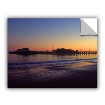 Brushstone Santa Barbara Pier At Sunset RemovableWall Decal