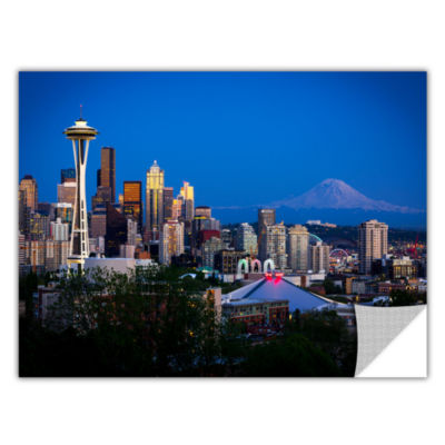 Brushstone Seattle And Mt. Rainier Removable WallDecal